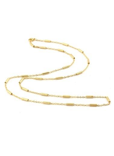 Welch Steel Gold Kadın Çelik Kolye Altın